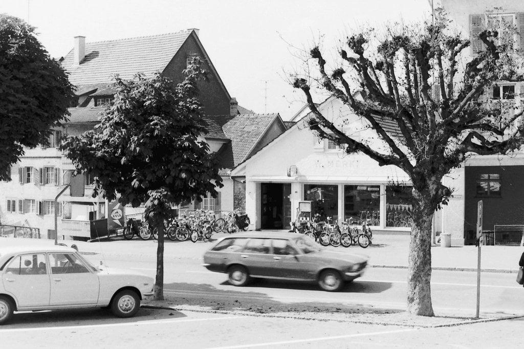Schwarz Velos-Motos in Bischofszell im Jahre 1974