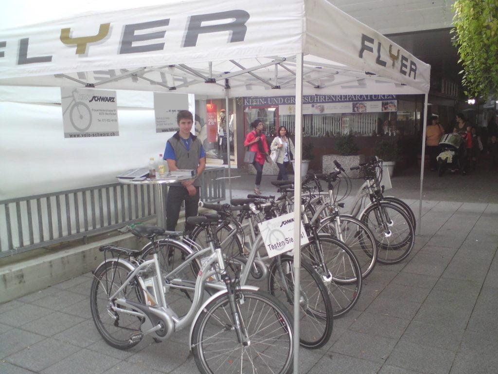 Das E-Bike von FLYER wird an der WEGA 2009 vorgestellt.