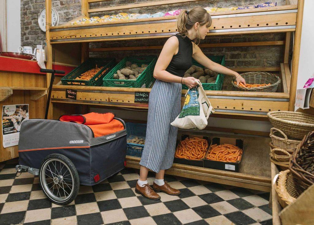 Cargo von CROOZER (Fahrrad Anhänger) Shopping