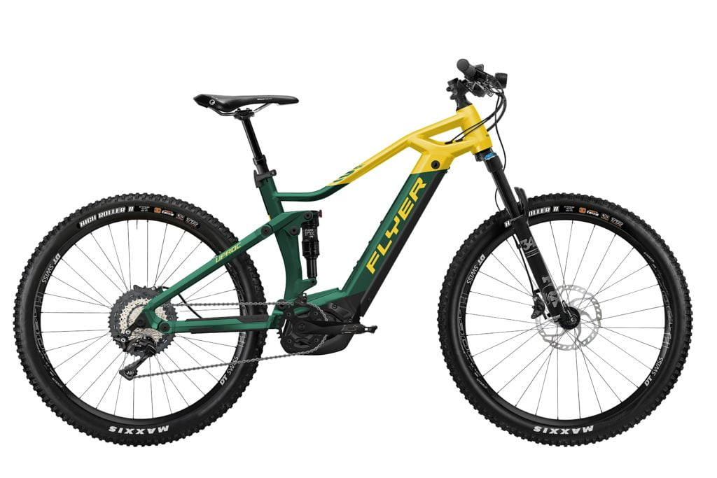 Uproc3 von FLYER (E-Bike | Mountain), Opalgreen-Sunflower