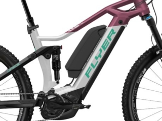 Uproc3 von FLYER (E-Bike | Mountain), Solidwhite-Berry, Dual-Battery