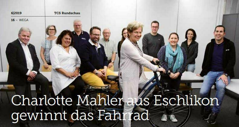 Velo Schwarz Beitragsbild: TCS Thurgau Gewinner Wega 2019
