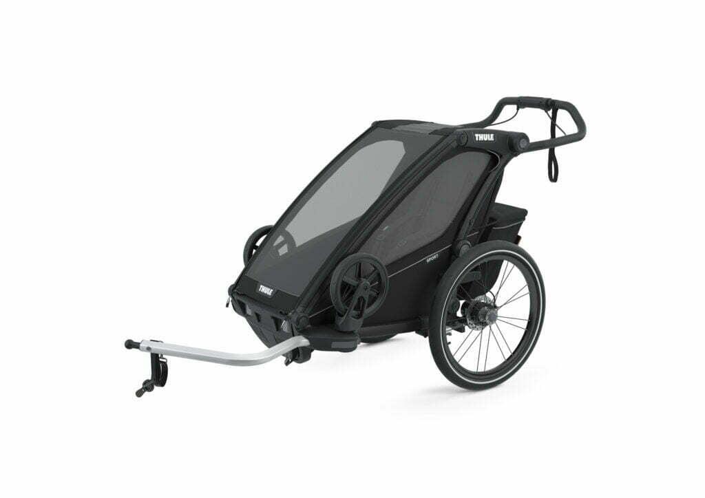 Sport 1 von THULE CHARIOT (Fahrrad Anhänger) Black on Black
