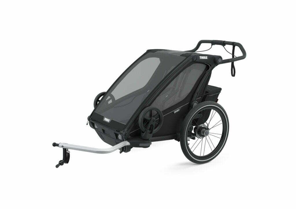 Sport 2 von THULE CHARIOT (Fahrrad Anhänger) Black on Black
