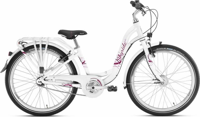 Skyride 24 7Gang von PUKY (Kinderfahrräder), Light Weiss City